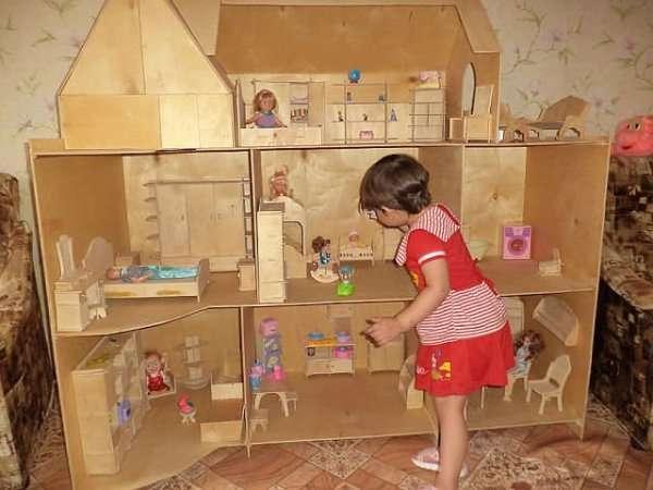 Кукольный домик своими руками пошаговое фото 16