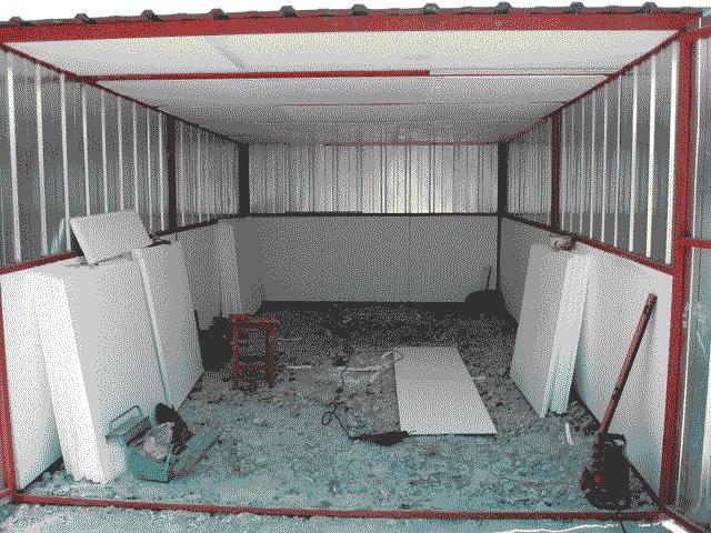 Каркасный гараж из пенопласта своими руками