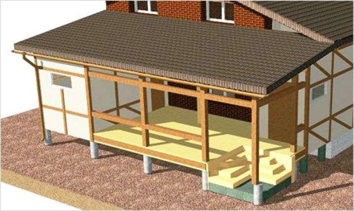 """Как построить красивую дачную веранду к дому быстро своими руками ВИДЕО - журнал """"Рутвет"""""""