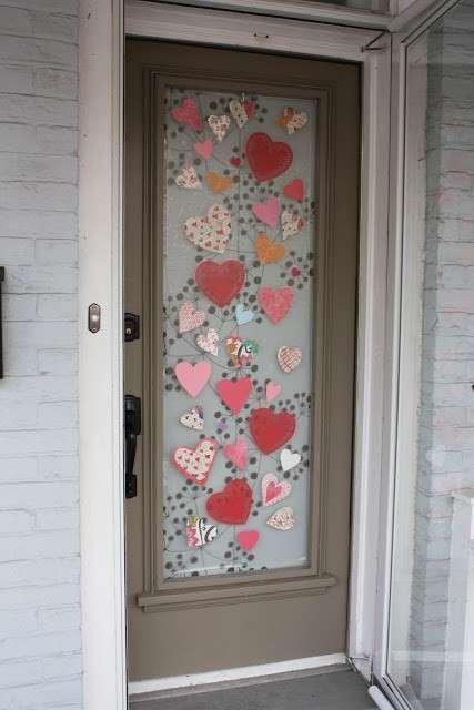 декорирование стеклянных дверей
