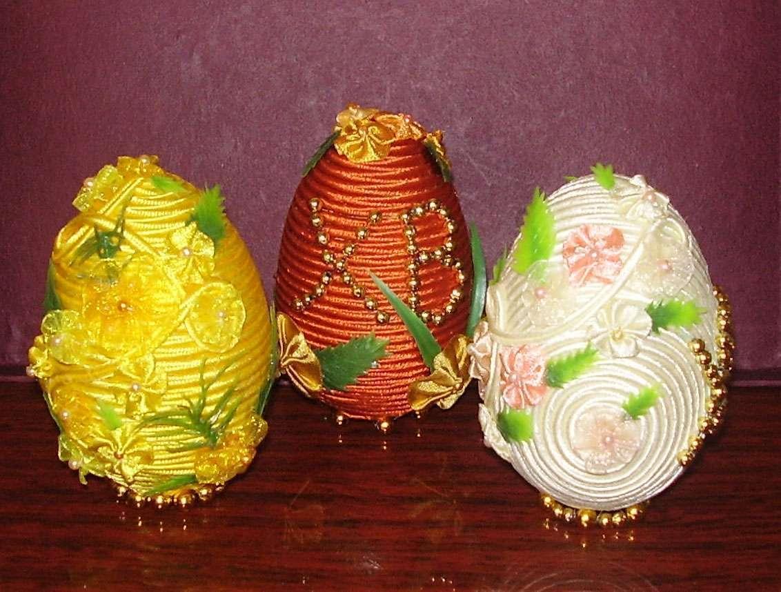 Как сделать пасхальное яйцо из лент своими руками