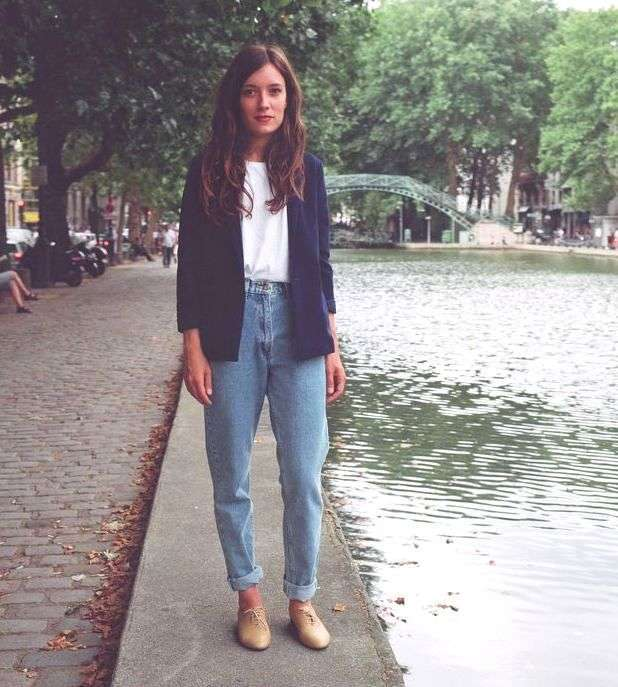 ed91168d9a6 С чем носить джинсы бойфренды с высокой талией  — журнал
