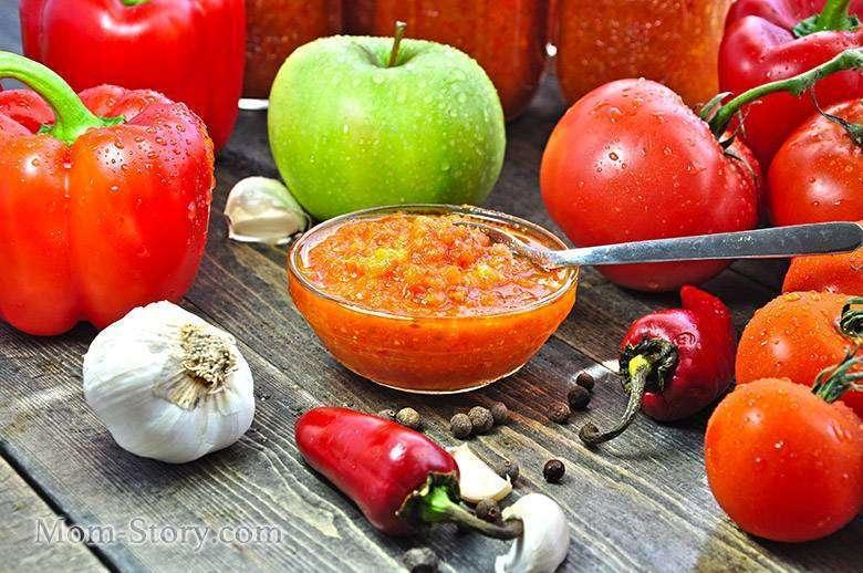 Аджика с яблоком рецепт с фото