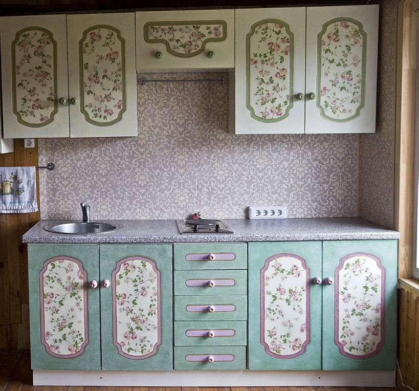 Переделка старой кухонной мебели своими руками покраска