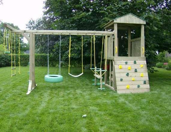 Построить своими руками детскую площадку на даче