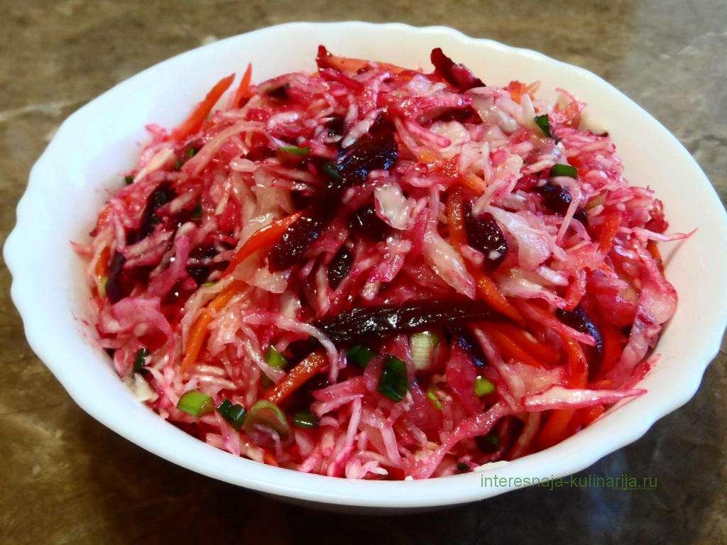 салат из капусты со свеклой быстрого приготовления