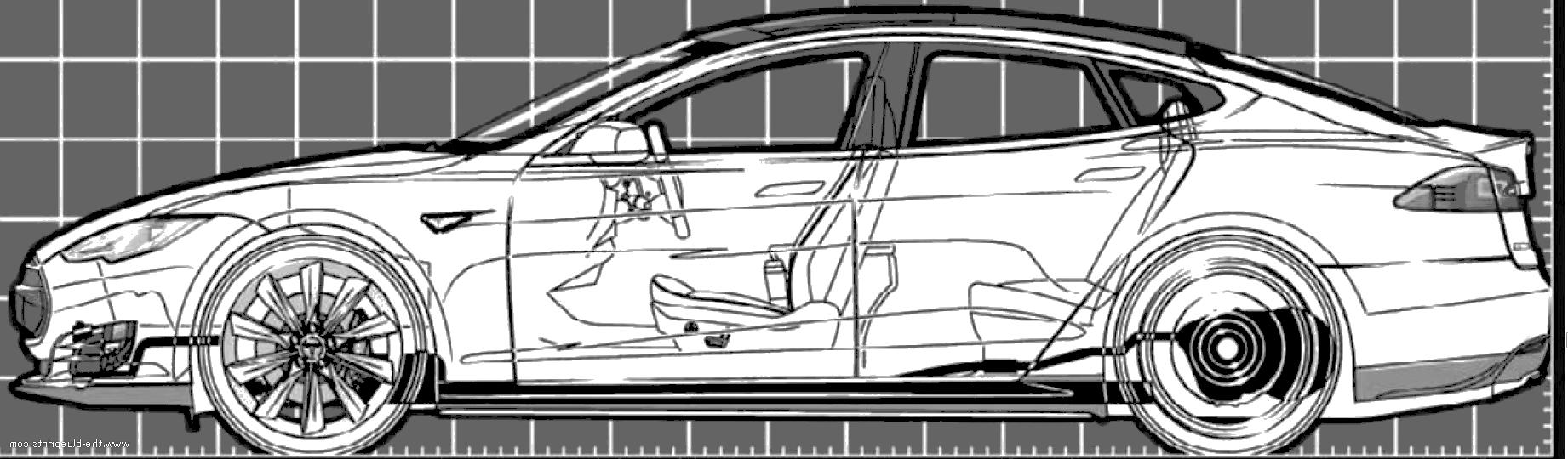 автомобиль тесла чертежи