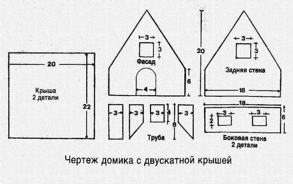 выдают индивидуальном пряничный домик выкройки фото схемы вас есть