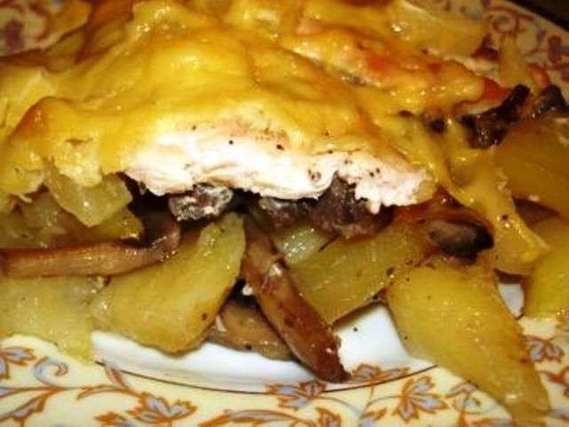 филе курицы с картошкой в духовке рецепт с майонезом