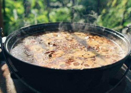 Солянка на костре в казане рецепт пошагово