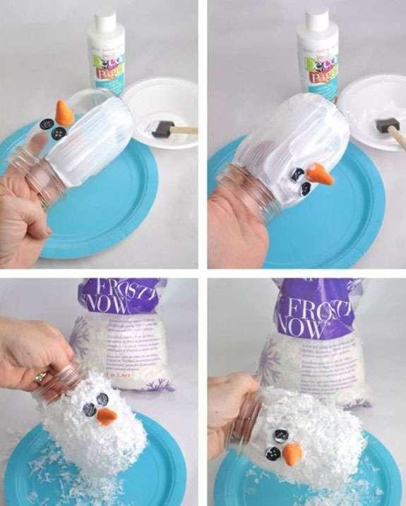 Как сделать снеговика из стаканов своими руками фото 168