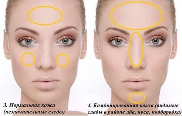 Окрашивание кожи лица
