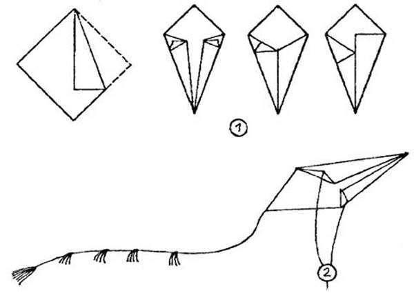 Как сделать летающего змея из бумаги своими руками