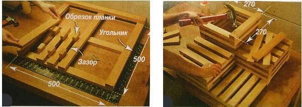 Как сделать каскад из ящиков с зазорами