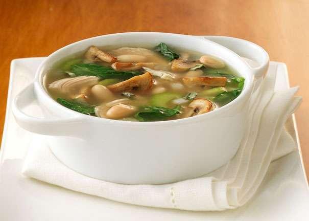 Суп грибной из масляты