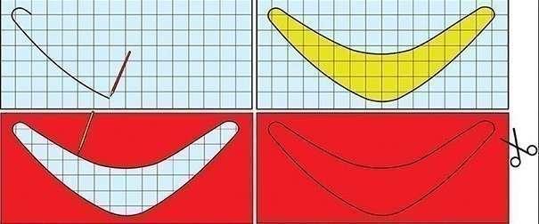 Как сделать самолет бумеранг самый простой