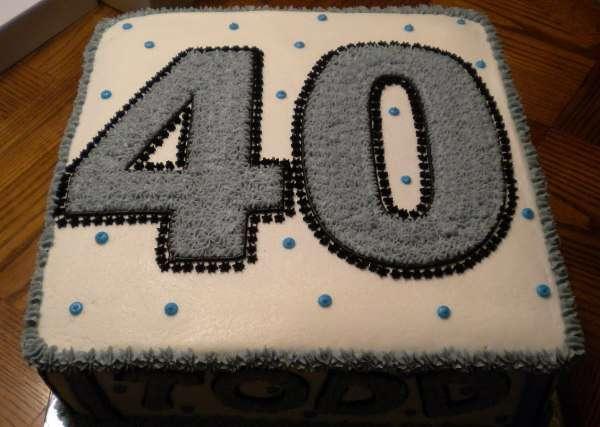 Торт на юбилей 40 лет
