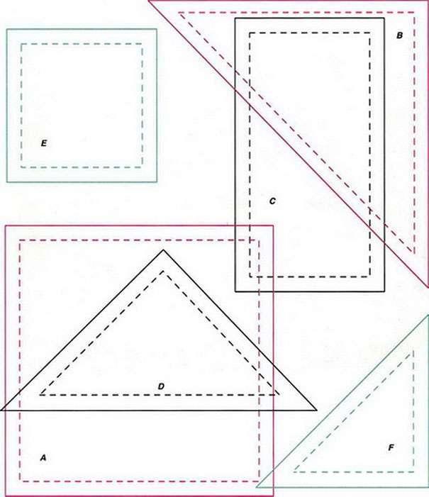 шаблоны для печворка <i>лоскутное шитье для начинающих.мастер класс</i>