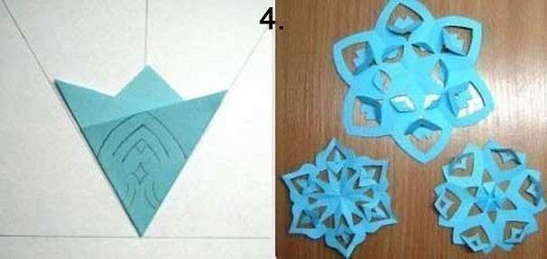Как сделать снежинку видео из бумаги своими руками