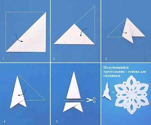 Как и сделать красивые снежинки из бумаги своими руками