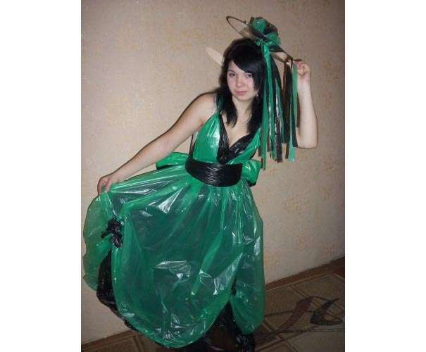 Платье из пакеты своими руками