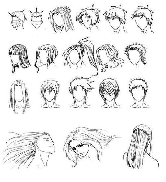 Способ изображения волос в аниме разнообразен.