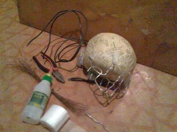 Как сделать маску из бумаги череп