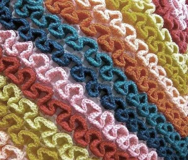Вязание объемных цветов для коврика