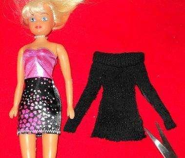 Вечернее платье для вашей куклы из простых тканей