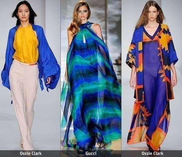 С чем сочетают синий именитые модельеры?