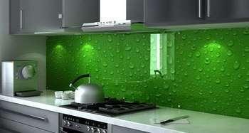 Как установить стеклянный фартук для кухни. Фото с сайта vk.com