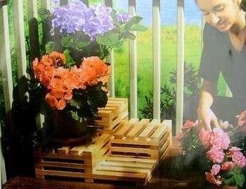 цветочная подставка из дерева