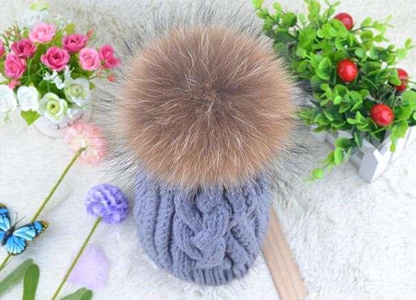 Помпон из меха для шапки своими руками