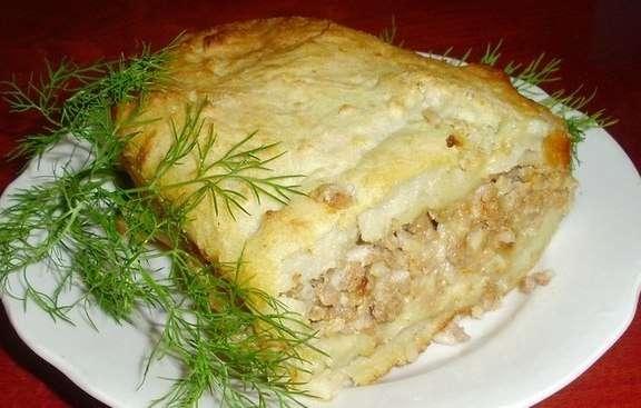 Запеканка картошки с мясом в мультиварке