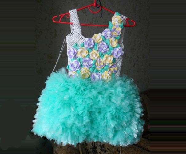 Платье из мусорного пакета мастер класс