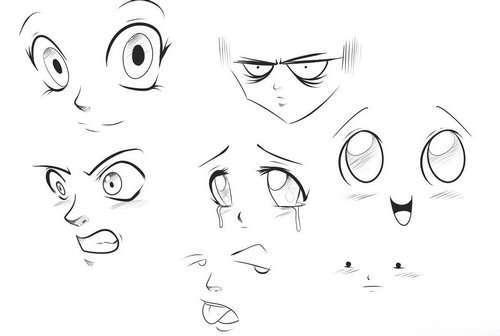Как в аниме изображать нос?