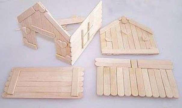 Домик из палочек своими руками пошаговая инструкция