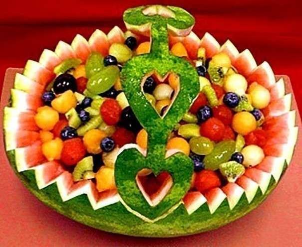 Украшения для салатов из фруктов