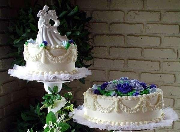 Оригинальный торт на сапфировую свадьбу