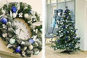 Украшение офиса к новому году своими руками: настенные композиции в основе праздничного декора