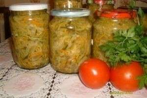 Какой салат можно сделать из помидоров и огурцов на зиму