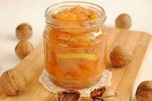 Варенье с грецкими орехами из айвы, клюквы, тыквы, сливы, черноплодной рябины
