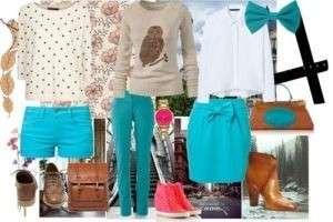 Как сочетать в одежде бирюзовые оттенки