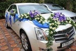 Оформление свадебных машин своими руками: живыми и искусственными цветами, лентами