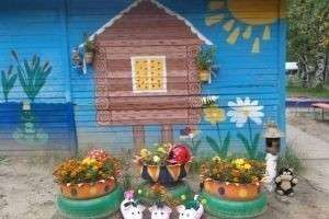 Оформление клумб в саду своими руками фото 821