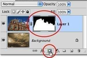 Как заменить небесный фон с помощью слоев и масок в Photoshop?