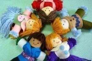 Творческие идеи: кукла из ниток своими руками