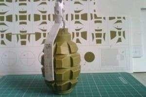 Как сделать из бумаги гранату