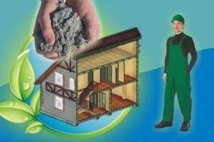 Технология утепления домов эковатой