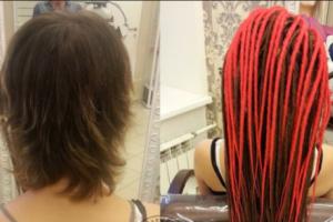 Женские дреды: волосы до и после